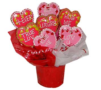 Valentines Day Cookie  Basket